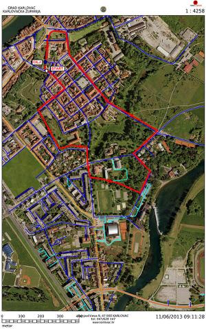 Karta staze Karlovačkog cenera